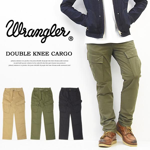 ラングラー Wrangler ダブルニー ストレッチ カーゴパンツ テーパード メンズ 送料無料 WM7969
