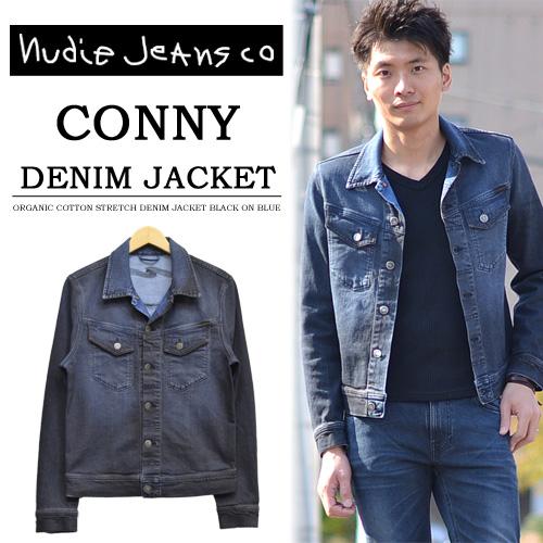 574076b1aed Nudie Jeans (Nudie jeans) CONNY (Connie) denim jacket G Jean denim stretch  denim 38161-5017-B26 ORG. BLACK ON BLUE