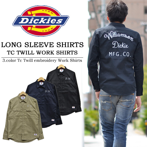 Dickies ( Dickies ) TC twill embroidered with long sleeve work shirt  133M20WD13