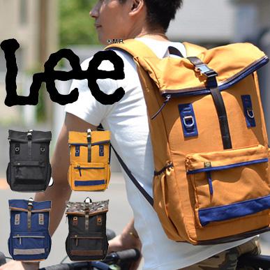 【送料無料】 Lee(リー) ロールトップ ナイロン リュック デイバッグ コーデュラナイロン リュックサック バックパック カバン 鞄 カモフラ柄 迷彩柄 デイパック メンズ レディース QPER60