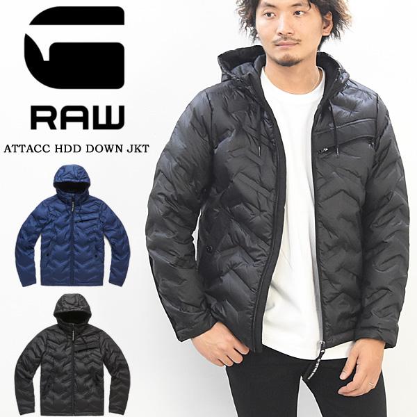 10%OFF セール SALE G-STAR RAW ジースターロウ ダウンジャケット アウター ATTACC HDD DOWN JKT 長袖 フード メンズ 送料無料 D14005-B507 ブラック ブルー