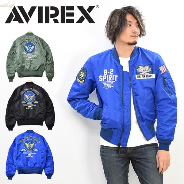 AVIREX アビレックス LIGHT MA-1 ジャケット B-2 スピリット ライトMA-1 中綿なし メンズ ライトアウター フライトジャケット アヴィレックス 送料無料 6102136
