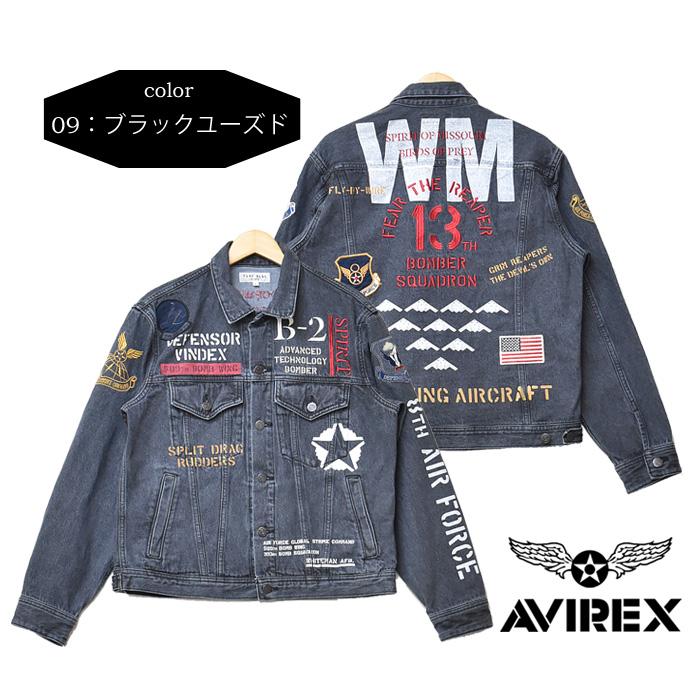 AVIREX アビレックス B 2 インパクト デニムジャケット ライトアウター フライトジャケット メンズ Gジャン ジージャン ブルゾン アヴィレックス 送料無料 61021348nwPkO0