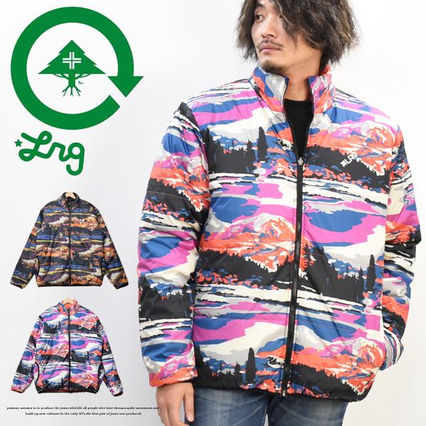 LRG エルアールジー 中綿ジャケット リバーシブル 総柄 ネイチャーグラフィック メンズ 送料無料 K194001