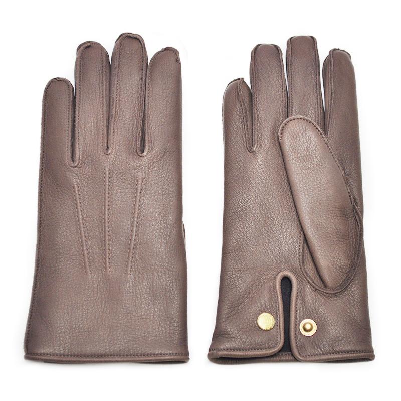 【残りMサイズのみ】GLAD HAND & Co. GLAD HAND - GLOVE (BROWN) グラッドハンド ディアスキン レザーグローブ【GANGSTERVILLE/ギャングスタービル/WEIRDO/ウィアード/OLD CROW/オールドクロウ】