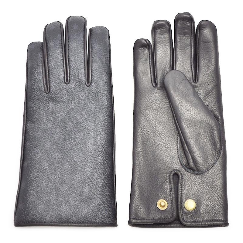 【期間限定クーポン 8/10.23:59まで】【残りXLサイズのみ】GLAD HAND & Co. GLAD HAND - GLOVE (FAMILY CREST) グラッドハンド ディアスキン レザーグローブ