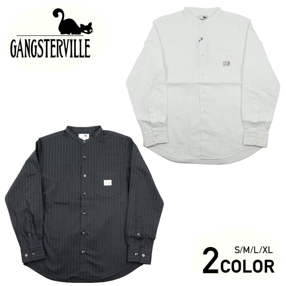 ギャングスタービル スタンドカラーシャツ 長袖 メンズ GANGSTERVILLE SOCIAL LOUNGE - L/S SHIRTS GLADHAND グラッドハンド WEIRDO ウィアード OLD CROW オールドクロウ