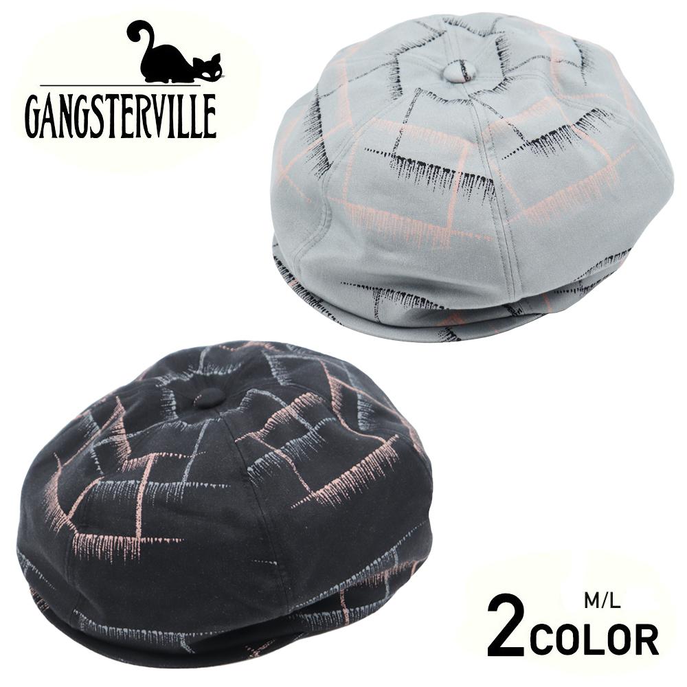 【残りMサイズのみ】ギャングスタービル チェック キャスケット メンズ GANGSTERVILLE MEMPHIS - CASQUETTE GLADHAND グラッドハンド WEIRDO ウィアード OLD CROW オールドクロウ