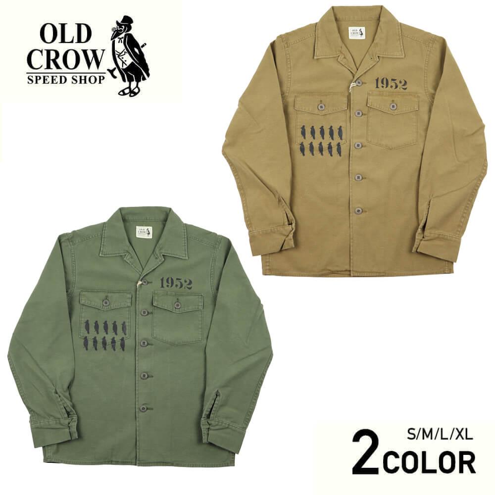 オールドクロウ オープンカラー 長袖シャツ メンズ 開襟シャツ OLD CROW CROW STRIKE - L/S SHIRTS GLADHAND グラッドハンド GANGSTERVILLE ギャングスタービル WEIRDO ウィアード