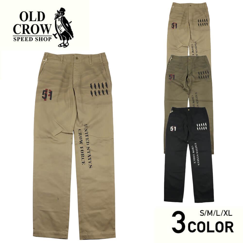 オールドクロウ チノパンツ ワークパンツ メンズ OLD CROW CROW STRIKE - CHINO PANTS GLADHAND グラッドハンド GANGSTERVILLE ギャングスタービル WEIRDO ウィアード