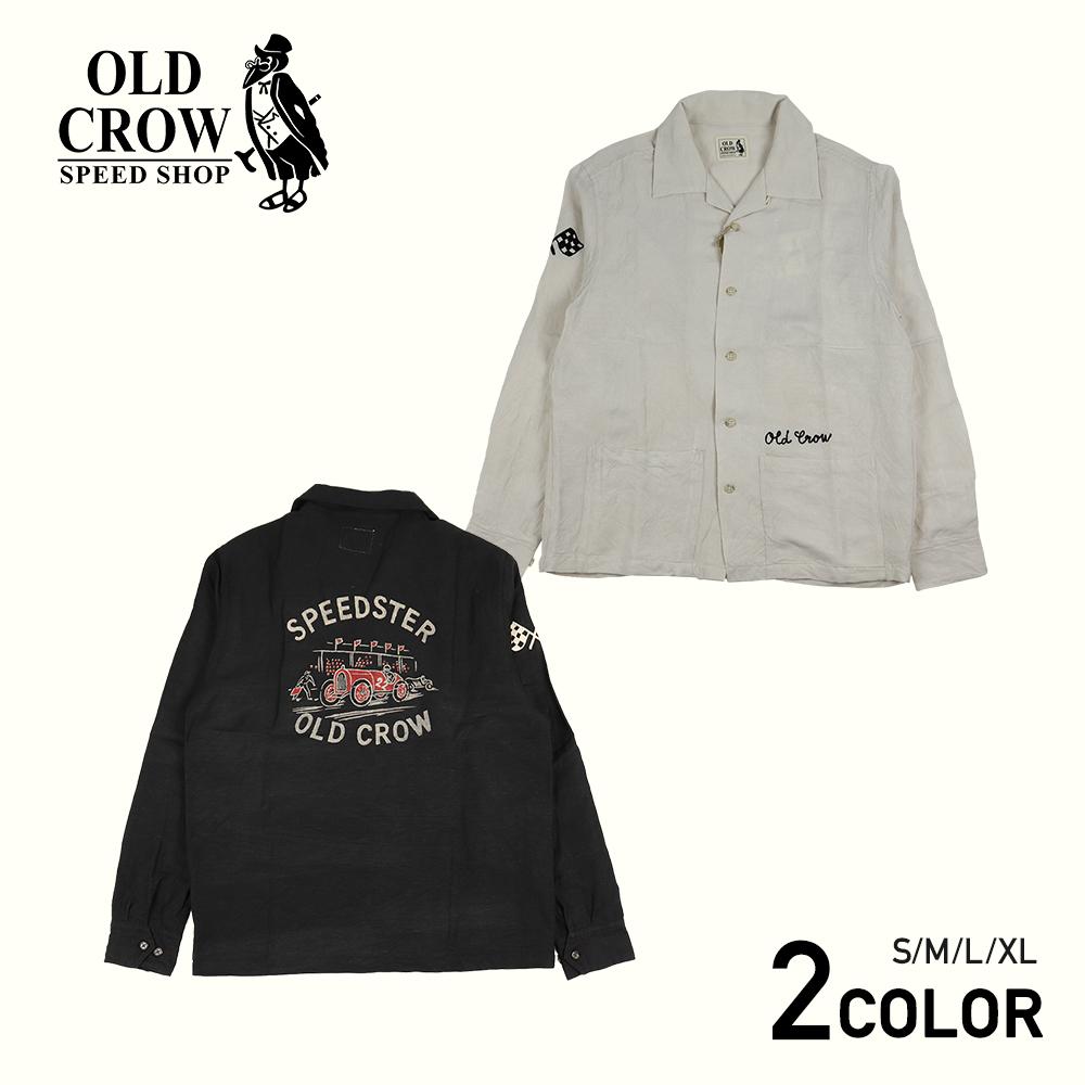 【残りSサイズのみ】オールドクロウ 長袖 オープンカラーシャツ 開襟シャツ メンズ/OLD CROW SPEEDSTER - L/S SHIRTS GLADHAND/グラッドハンド/GANGSTERVILLE/ギャングスタービル/WEIRDO/ウィアード