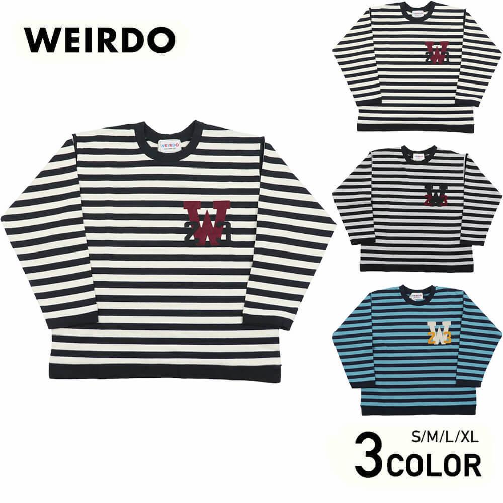 ウィアード ボーダー 長袖 Tシャツ ロンT メンズ WEIRDO RINGING CLOWN - L/S CREW NECK GLADHAND グラッドハンド GANGSTERVILLE ギャングスタービル OLD CROW オールドクロウ