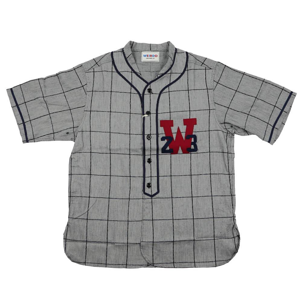2XL:ウィアード 半袖ベースボールシャツ メンズ WEIRDO WEIRDO LEAGUE - S/S SHIRTS GLADHAND グラッドハンド GANGSTERVILLE ギャングスタービル OLD CROW オールドクロウ