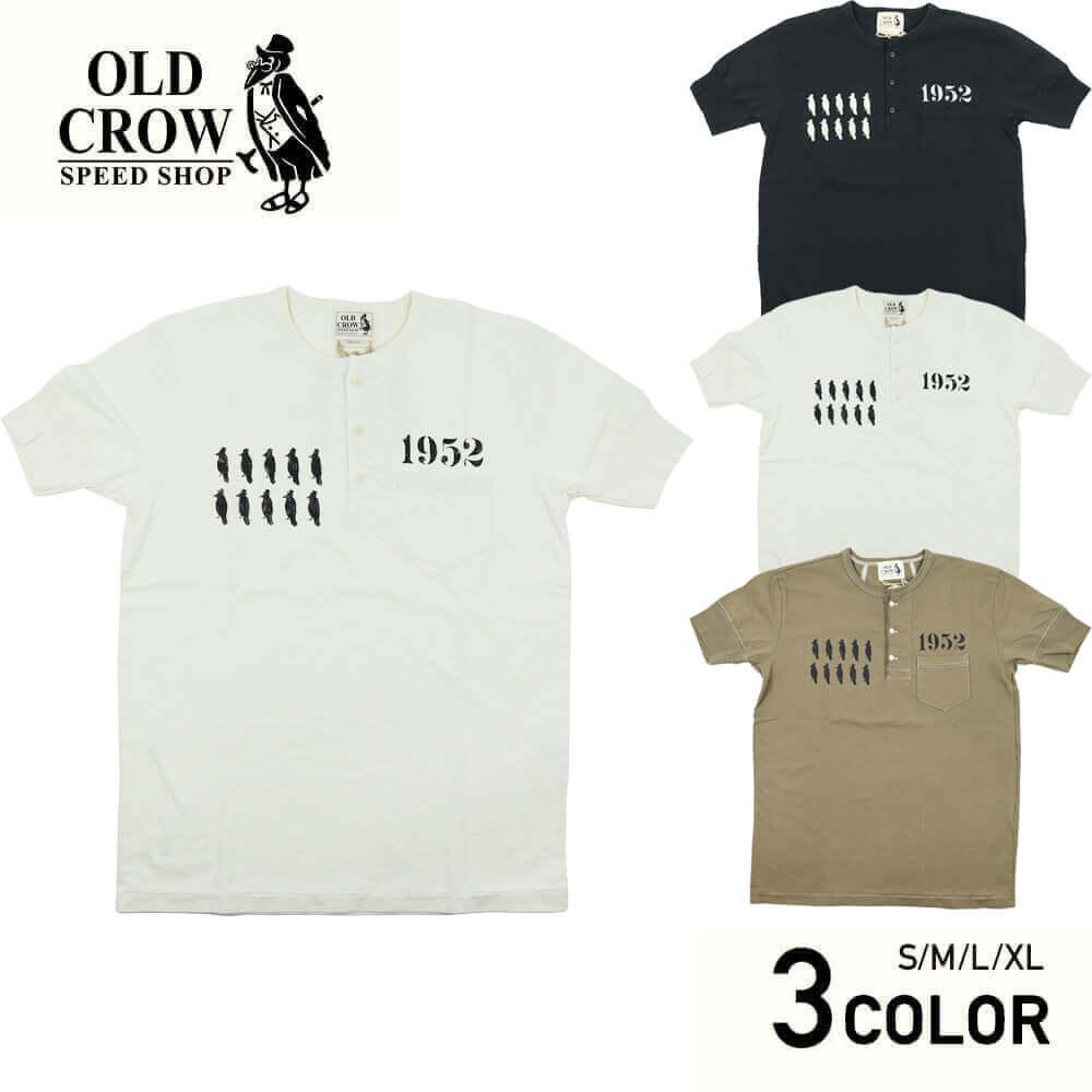 オールドクロウ ヘンリーネック 半袖Tシャツ メンズ OLD CROW CROW STRIKE - S/S HENRY T-SHIRTS GLADHAND グラッドハンド GANGSTERVILLE ギャングスタービル WEIRDO ウィアード