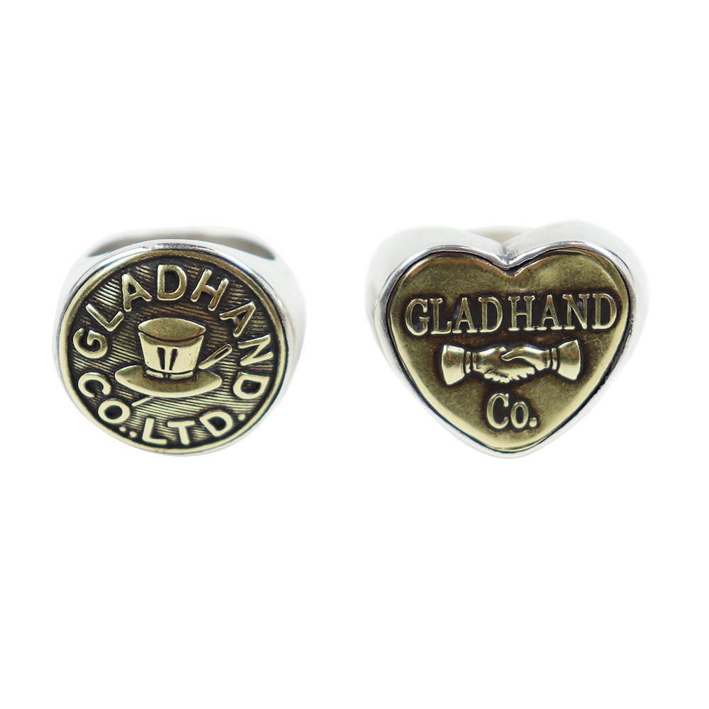 グラッドハンド ボタンリング 指輪 ラージ ハット ハート GLADHAND & Co. BUTTON RING