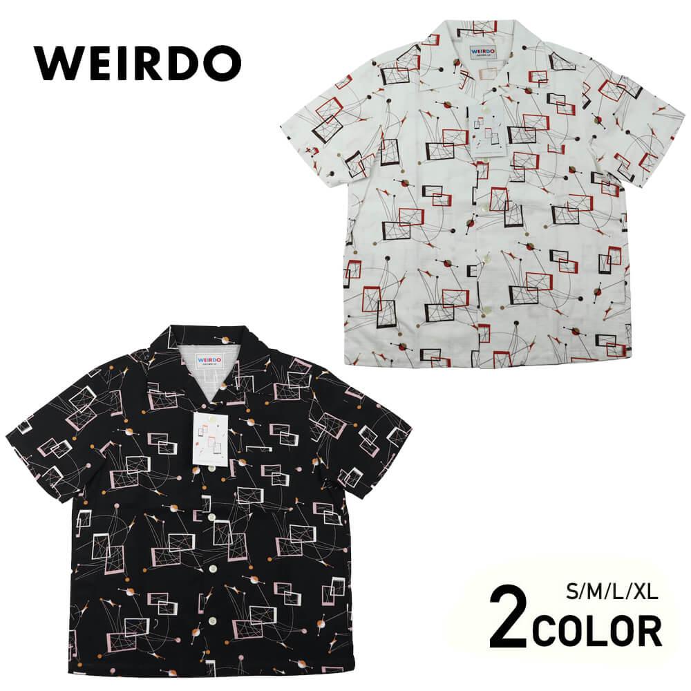 ウィアード 総柄 オープンカラー 半袖 開襟 シャツ メンズ WEIRDO ATOMIC WEIRDO - S/S SHIRTS GLADHAND グラッドハンド GANGSTERVILLE ギャングスタービル OLD CROW オールドクロウ