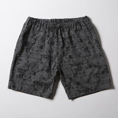 【期間限定クーポン 8/10.23:59まで】【残りSサイズのみ】SNOID DISGUSTING DISGUISES Shorts (H.Charcoal Gray) スノイド 総柄ショーツ/パンツ