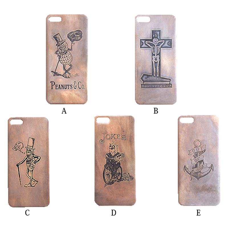 【全品ポイント21倍以上確定】期間限定エントリー/PARASITE X Peanuts&Co iPhone plate (iPhone 5/5S) ピーナッツカンパニー × パラサイト アイフォン5 プレート ブラス(真鍮)