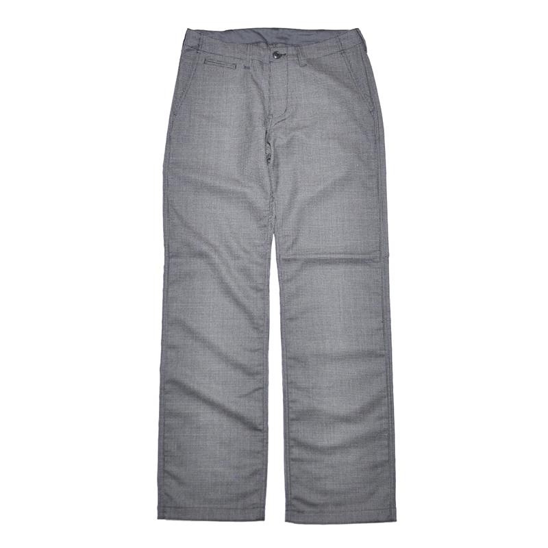 5 WHISTLE HOUND TOOTH PANTS (BLACK) ファイブホイッスル 千鳥格子 ウールパンツ【NORTH NO NAME/ノースノーネーム】