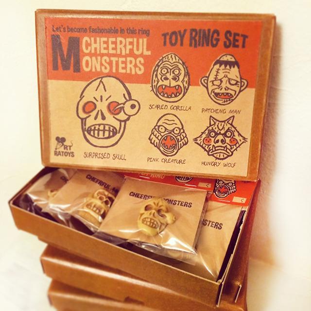 R MODELS C.Monsters Toy Ring SET - RATOYS アールモデルス C.モンスタートイリングセット