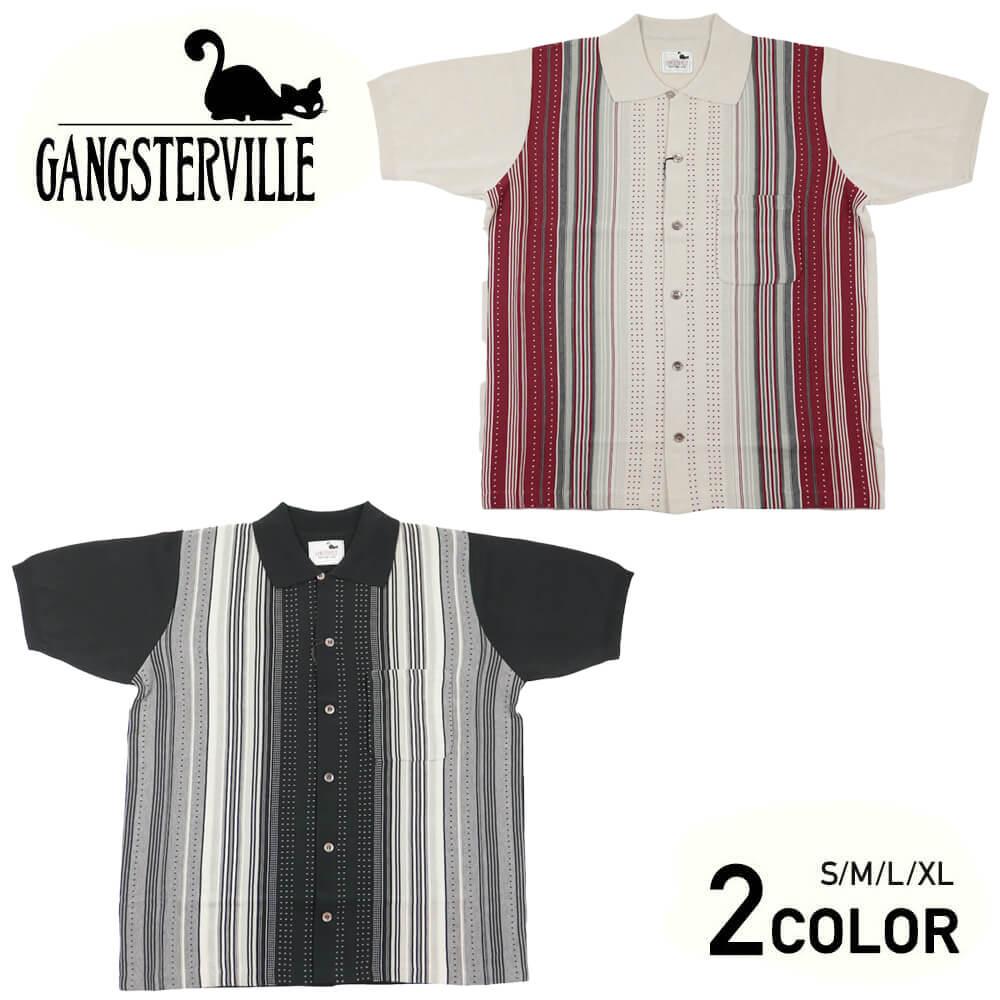 ギャングスタービル 半袖 ニットシャツ シャツ メンズ GANGSTERVILLE BOULEVARD - S/S SHIRTS GLADHAND グラッドハンド WEIRDO ウィアード OLD CROW オールドクロウ