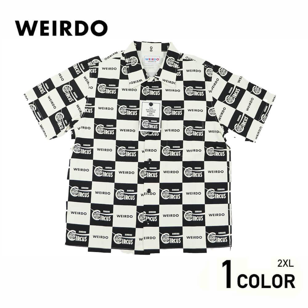 2XL:ウィアード 総柄 半袖 シャツ メンズ WEIRDO RINGING - S/S SHIRTS GLADHAND グラッドハンド GANGSTERVILLE ギャングスタービル OLD CROW オールドクロウ