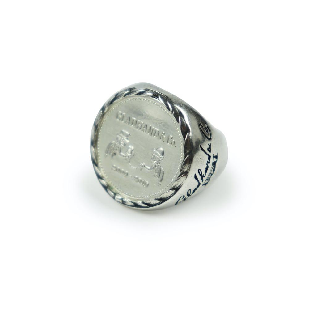 グラッドハンド メダルリング シルバー925 指輪 10周年 GLADHAND & Co. MEDAL RING (SILVER925) GANGSTERVILLE ギャングスタービル WEIRDO ウィアード OLD CROW オールドクロウ