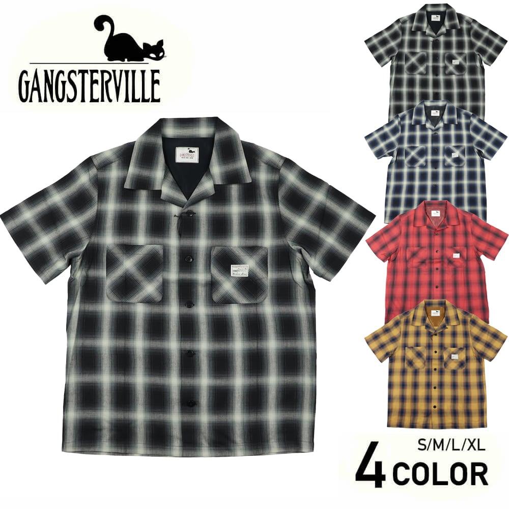 ギャングスタービル オープンカラー 半袖 チェックシャツ 開襟シャツ メンズ GANGSTERVILLE JACK - S/S CHECK SHIRTS GLADHAND グラッドハンド WEIRDO ウィアード OLD CROW オールドクロウ