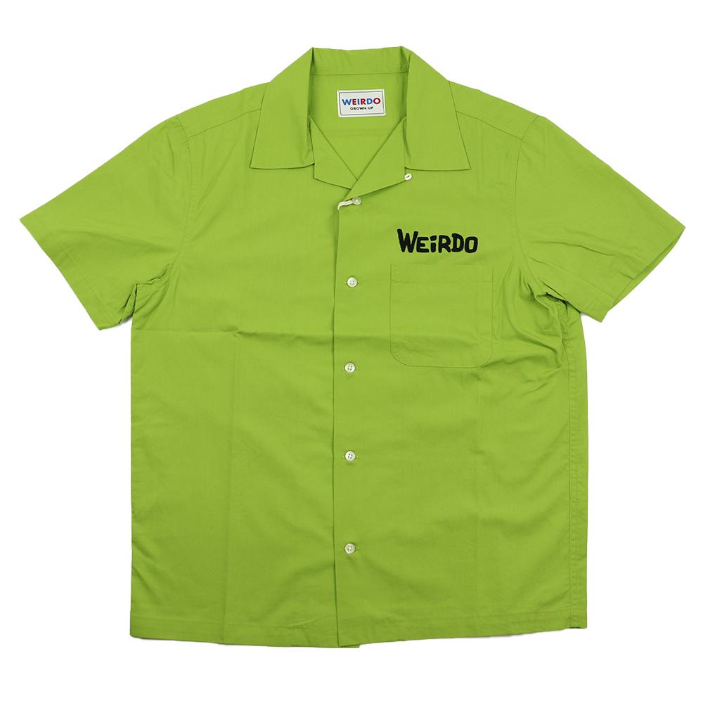 【残りS・Mサイズのみ】ウィアード 半袖オープンカラーシャツ 開襟シャツ メンズ WEIRDO MONSTERS - S/S SHIRTS GLADHAND/グラッドハンド/GANGSTERVILLE/ギャングスタービル/OLD CROW/オールドクロウ