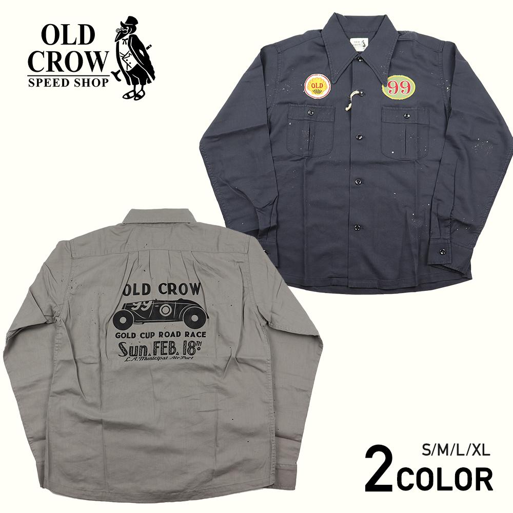【残りS・Lサイズのみ】オールドクロウ 長袖ワークシャツ メンズ OLD CROW GOLD CUP - WORK L/S SHIRTS GLADHAND/グラッドハンド/GANGSTERVILLE/ギャングスタービル/WEIRDO/ウィアード