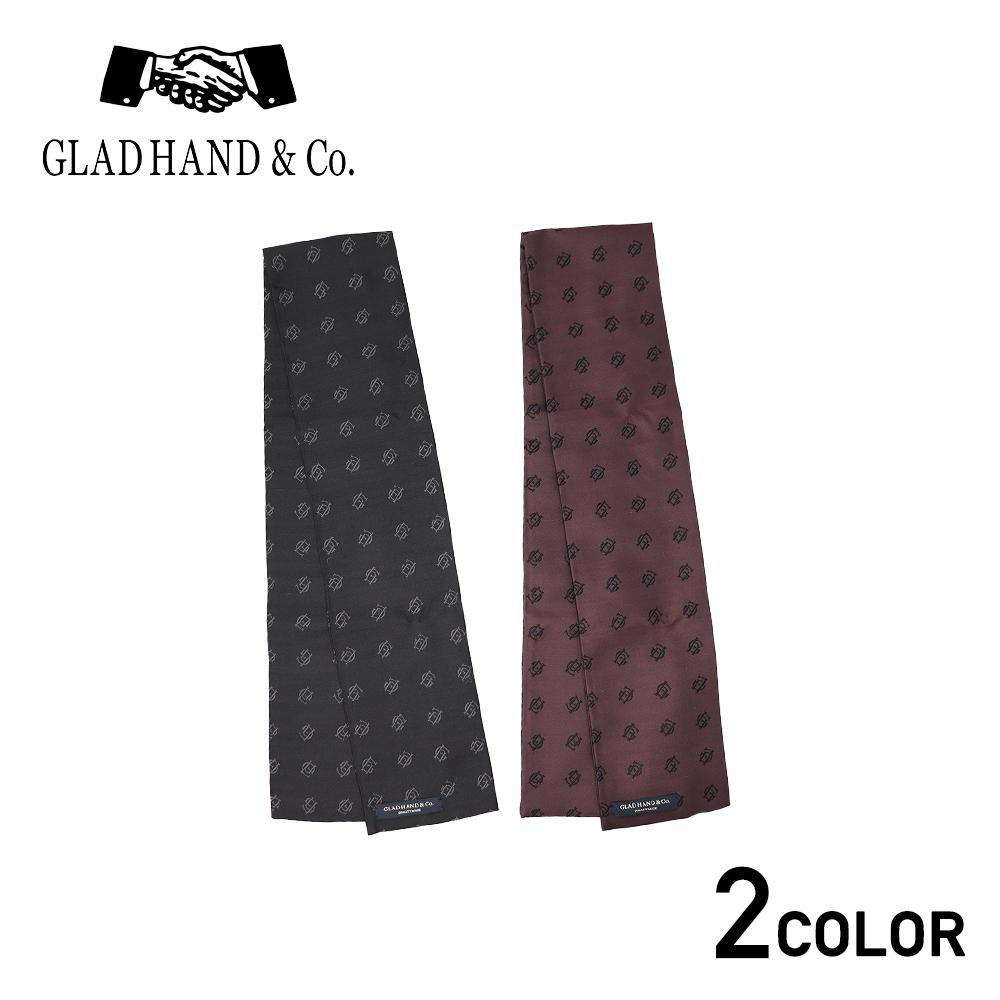 グラッドハンド シルクジャガード ストール ショート GLAD HAND & Co. FAMILY CREST STOLE