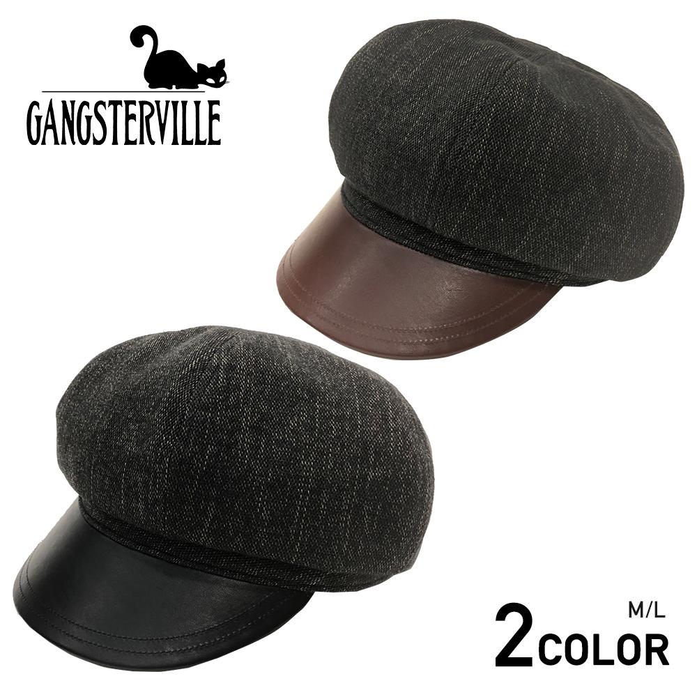 ギャングスタービル モーターサイクルキャップ キャスケット メンズ GANGSTERVILLE SMUGGLER - MOTORCYCLE CAP GLADHAND グラッドハンド WEIRDO ウィアード OLD CROW オールドクロウ