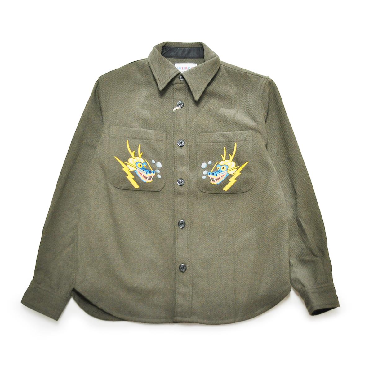 WEIRDO SNAPPY HAPPY WEIRDO - CPO SHIRTS JACKET (KHAKI) ウィアード CPOシャツジャケット/GLADHAND/グラッドハンド/GANGSTERVILLE/ギャングスタービル/OLD CROW/オールドクロウ