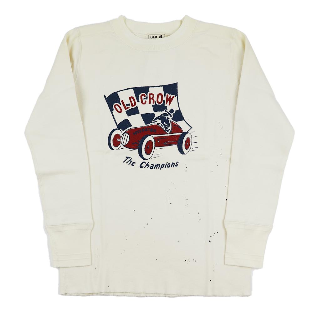オールドクロウ クルーネック 長袖 Tシャツ ロンT メンズ OLD CROW CROW RACER - L/S T-SHIRTS GLADHAND グラッドハンド GANGSTERVILLE ギャングスタービル WEIRDO ウィアード