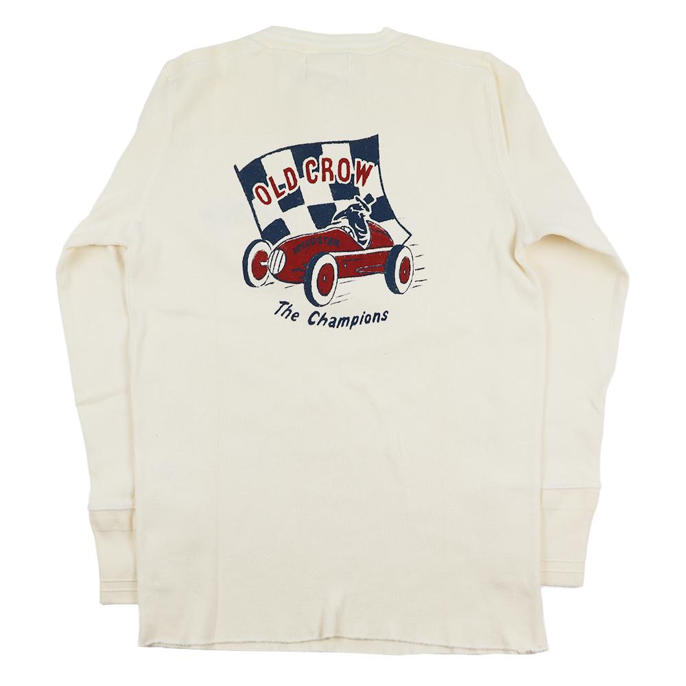 【期間限定クーポン 8/10.23:59まで】【残りMサイズのみ】オールドクロウ ヘンリーネック 長袖 Tシャツ ロンT メンズ OLD CROW CROW RACER - L/S HENRY T-SHIRTS GLADHAND グラッドハンド GANGSTERVILLE ギャングスタービル WEIRDO ウィアード