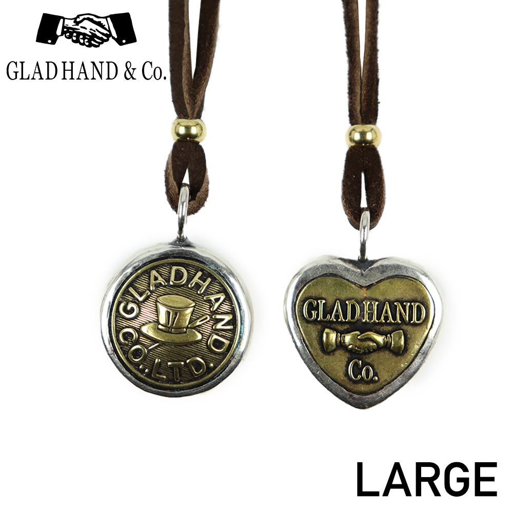 グラッドハンド ボタンチャーム ネックレス ペンダント ラージ ハット ハート GLAD HAND & Co. BUTTON CHARM