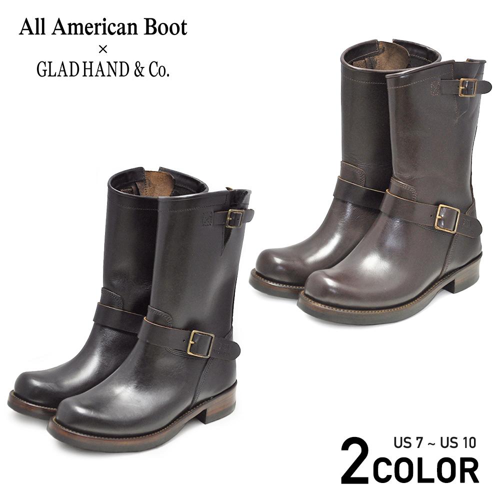 グラッドハンド エンジニアブーツ メンズ オールアメリカンブーツ GLAD HAND & Co. USA BOOTS GH - JOYRIDE All American BootsMfg., Inc. GANGSTERVILLE ギャングスタービル WEIRDO ウィアード OLD CROW オールドクロウ