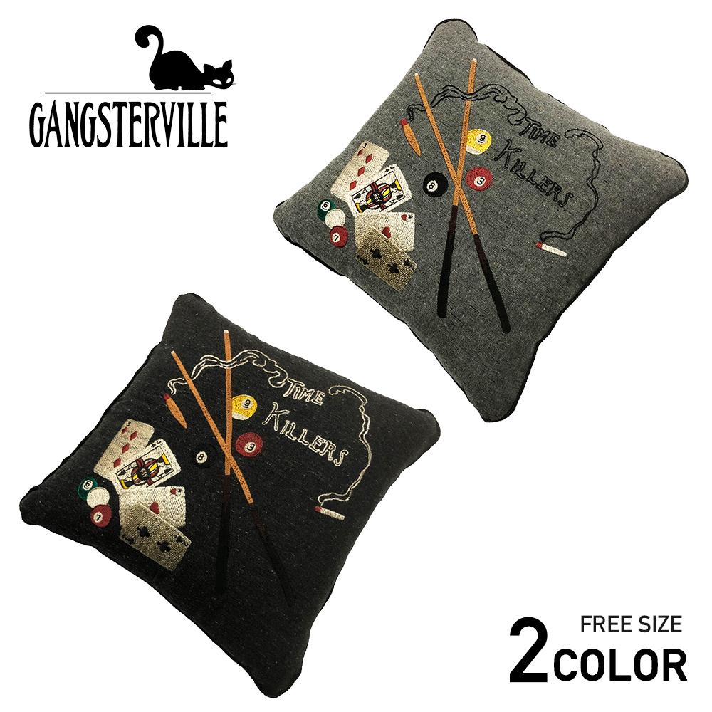 ギャングスタービル クッションカバー GANGSTERVILLE TIME KILLERS - CUSHION COVER GLADHAND/グラッドハンド/WEIRDO/ウィアード/OLD CROW/オールドクロウ