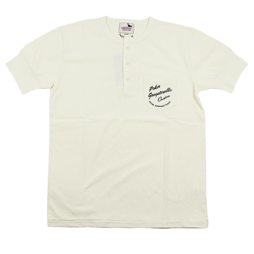 【残りSサイズのみ】※ネコポス対応(250円)※ ギャングスタービル ヘンリーネック ポケット 半袖 Tシャツ メンズ GANGSTERVILLE CASINO DAILY - S/S HENRY T-SHIRTS GLADHAND/グラッドハンド/WEIRDO/ウィアード/OLD CROW/オールドクロウ