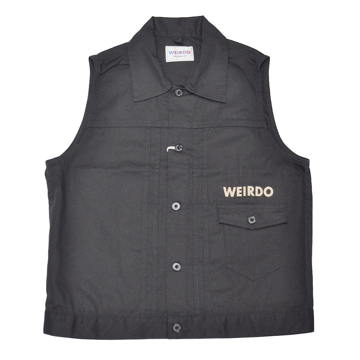 【残りSサイズのみ】WEIRDO ROAD FREAK - VEST (BLACK) ウィアード Gベスト/ワークベスト/GLADHAND【GANGSTERVILLE/ギャングスタービル/OLD CROW/オールドクロウ】
