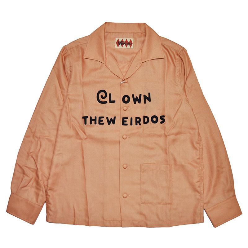 【残りSサイズのみ】WEIRDO CLOWN THE WEIRDOS - SHIRTS (PINK) ウィアード 長袖 シャツ/GLADHAND【GANGSTERVILLE/ギャングスタービル/OLD CROW/オールドクロウ】