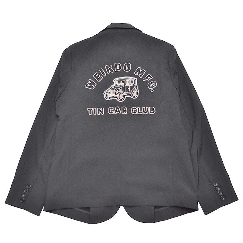 【残りS・Mサイズのみ】WEIRDO TIN CAR CLUB - JACKET (BLACK)ウィアード テーラードジャケット/GLADHAND【GANGSTERVILLE/ギャングスタービル/OLD CROW/オールドクロウ】