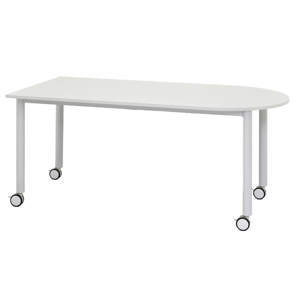 キャスターテーブル ホワイト脚 U字形 ホワイト RFCTT-WL1680UWH アールエフヤマカワ RFyamakawa ミーティングテーブル オフィスデスク 会議用テーブル 会議机