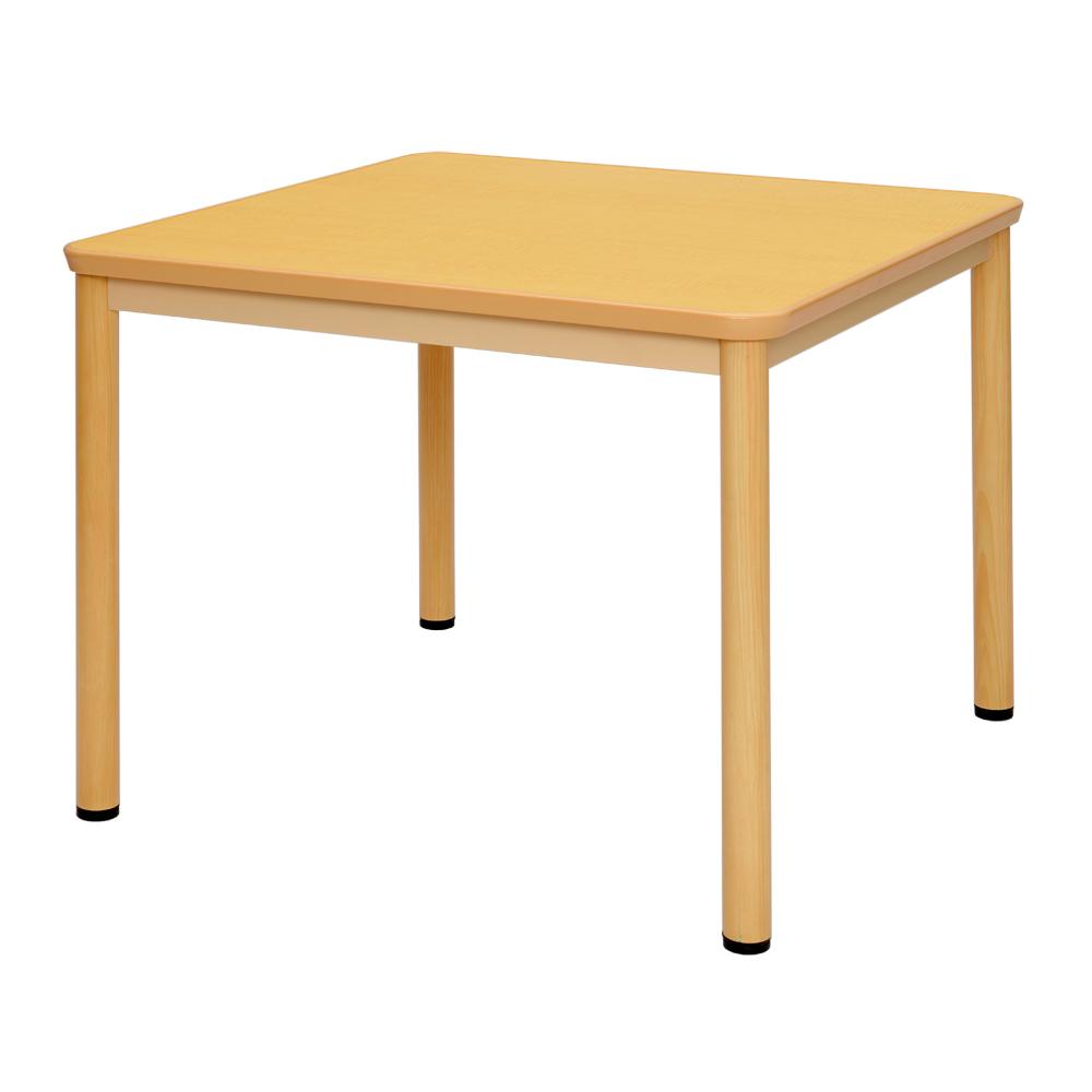 介護用テーブルW900xD900 / ナチュラル RFKTB-0990NA【送料無料】【代引き不可】 アールエフヤマカワ RFyamakawa 高さ調整 机 車椅子用 ダイニングテーブル 食卓