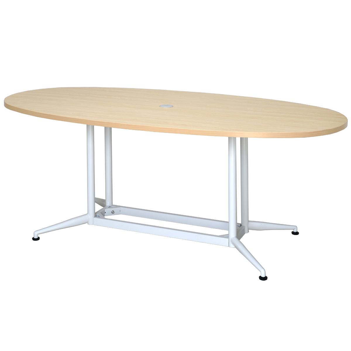 OAオーバルテーブル W1800xD900 ナチュラル RFOVT-OA1890NA【送料無料】  アールエフヤマカワ RFyamakawa 会議テーブル 会議用テーブル 楕円