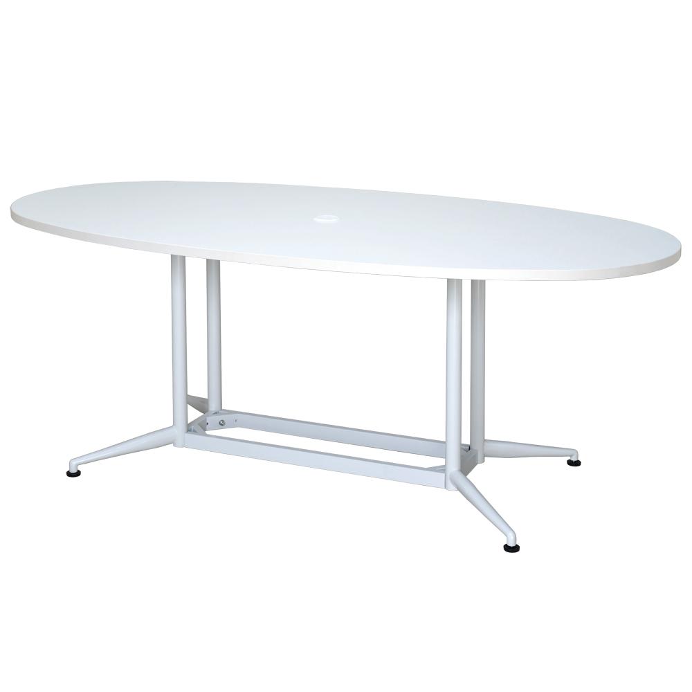 開催中 低廉 人が集まりやすいオーバル型ミーティングテーブル アールエフヤマカワ OAオーバルテーブル ホワイト RFOVT-OA1890WH W1800xD900