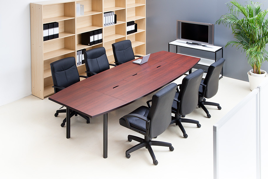 Unit Type Meeting Table W3000 X D1200 Dark Rose Rfpc 201 Rf Co Ltd Yamakawa Rfyamakawa Desk Conference