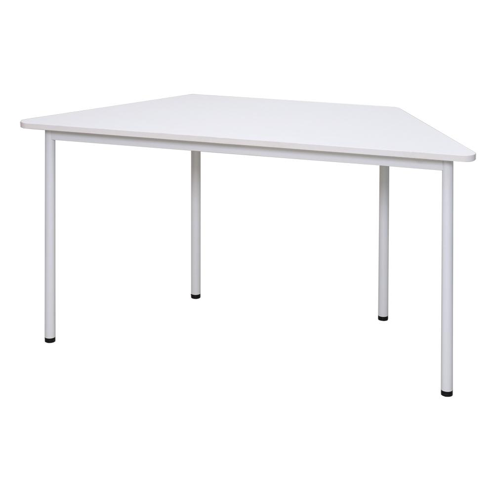 ラディーRFシンプルテーブル W1400 台形 ホワイト RFSPT-1470DWH【代引き不可】【送料無料】 アールエフヤマカワ RFyamakawa オフィスデスク 事務机 台形 会議テーブル ミーティングテーブル 教育 塾