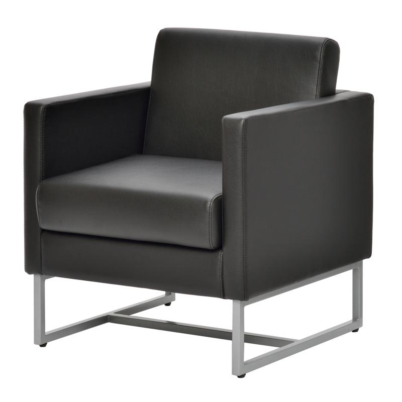 ループ脚ソファ1人掛け / ブラック GZLPSF-1BK【送料無料】【代引き不可】 アールエフヤマカワ RFyamakawa オフィス 会議室 商談 応接用 1人用 sofa