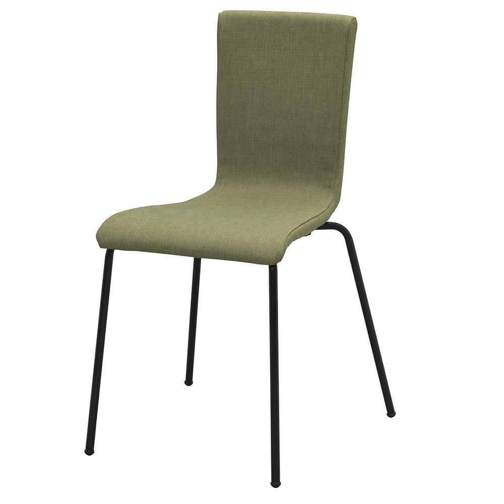 ファブリックチェアII グリーン ブラック脚 RFC-FPGN2BF 椅子 会議用椅子 会議椅子 イス ミーティングチェア カフェチェア ダイニングチェア ワークチェア スタッキング